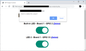 Control ESP32 ESP8266 from Anywhere delete switches buttons