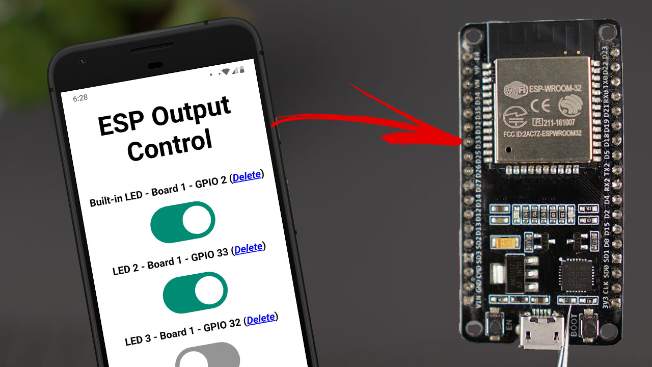Control ESP32 and ESP8266 GPIOs from Anywhere in the World