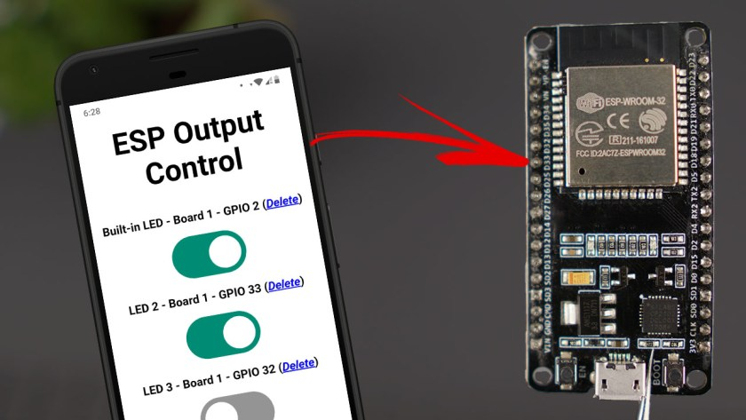 In this project you'll learn how to control your ESP32 or ESP8266 GPIOs from anywhere in the world. This can be very useful to control a relay, a th