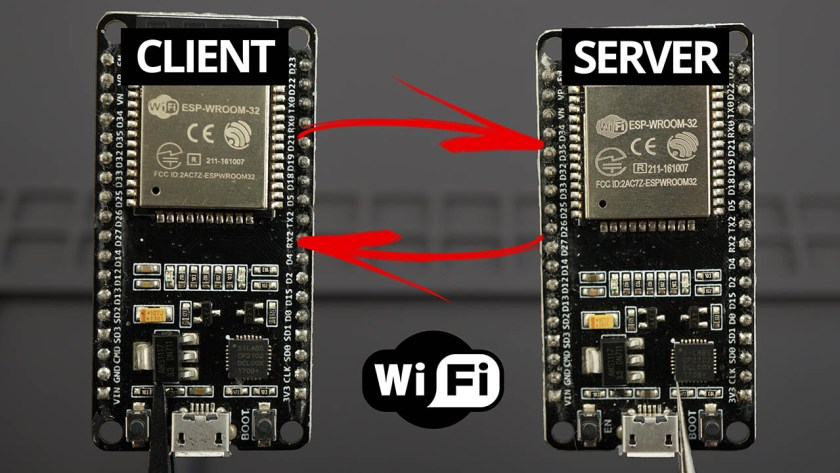 ESP32 Client-Server Wi-Fi Communication Between Two Boards