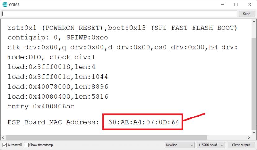 Get Obtain ESP32 or ESP8266 MAC Address Physical using Arduino IDE