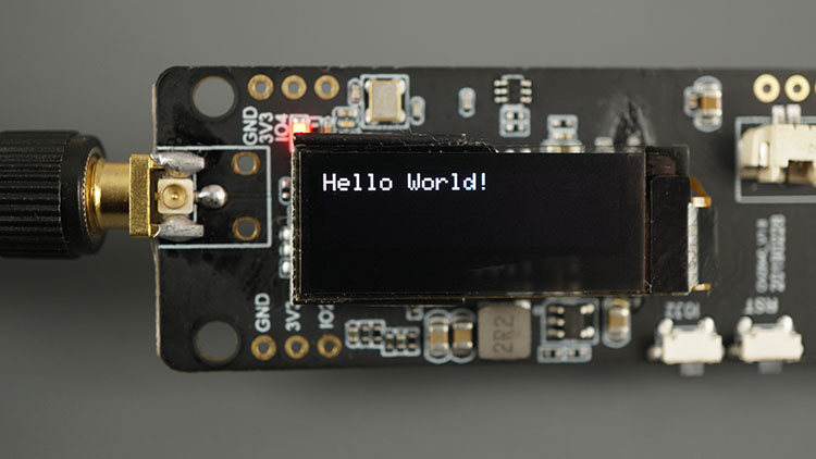 TTGO T-Journal ESP32 Board Control OLED Display Sample Message Hello World