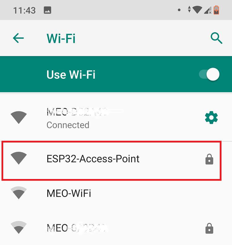 ESP32 Server Access Point AP Connection