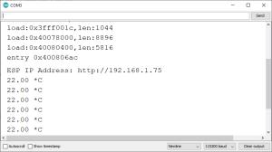 ESP32 Email Web Server Arduino IDE Serial Monitor Temperature