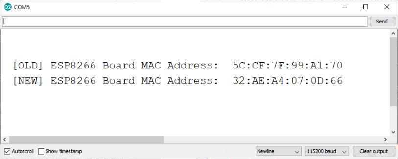 Change and Set ESP8266 MAC Address with Arduino IDE