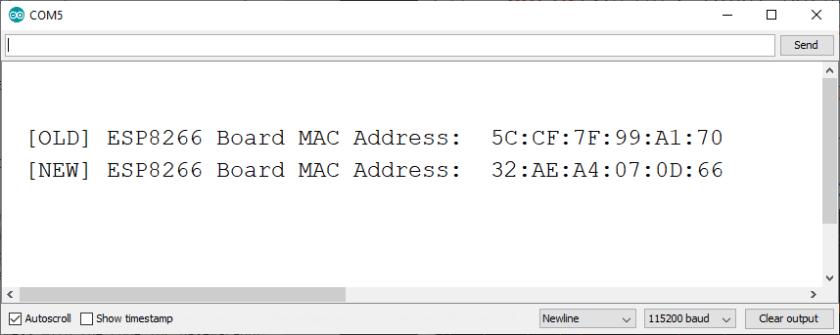 Change and Set ESP8266 MAC Address with Arduino IDE