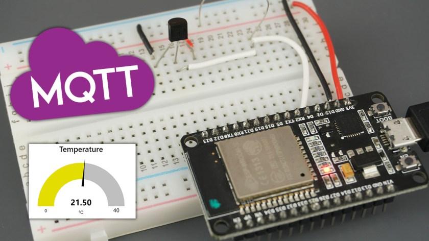 ESP32 MQTT Publish DS18B20 Temperature Readings Arduino IDE