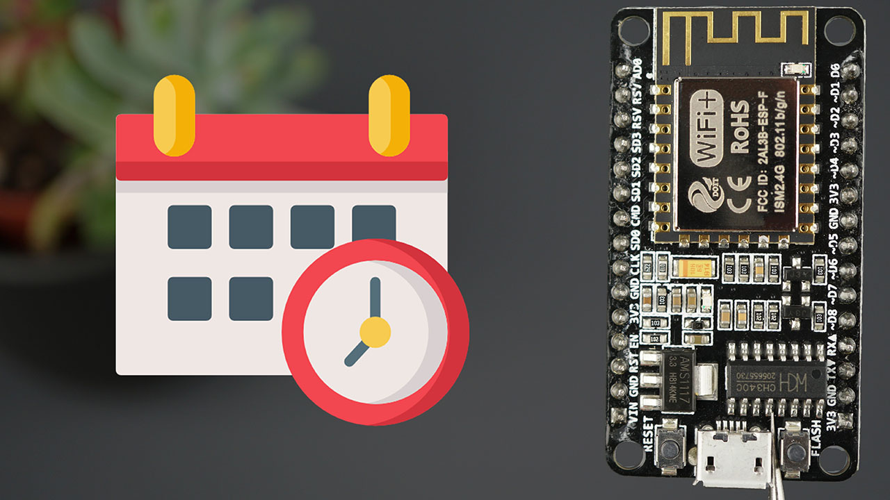 ESP8266 NodeMCU NTP Client-Server: Get Date and Time Arduino IDE