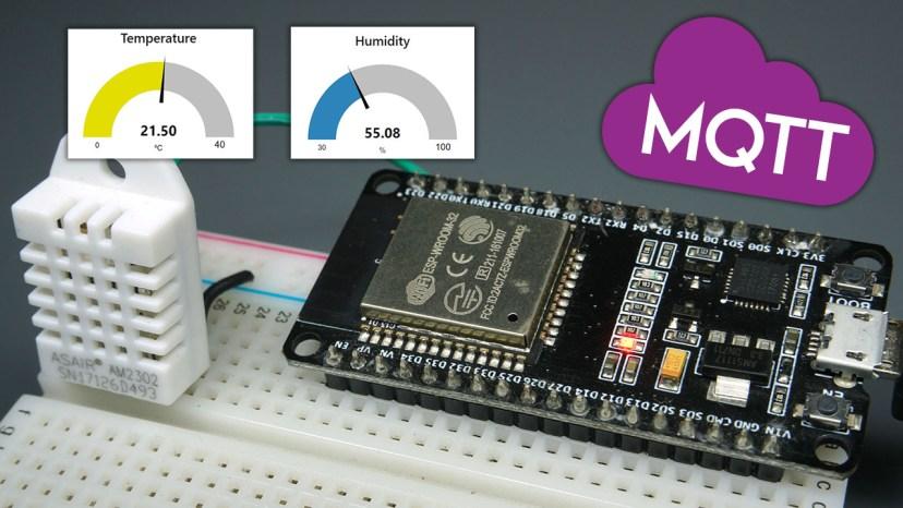 ESP32 MQTT Publish DHT22 or DHT11 Sensor Readings Arduino IDE