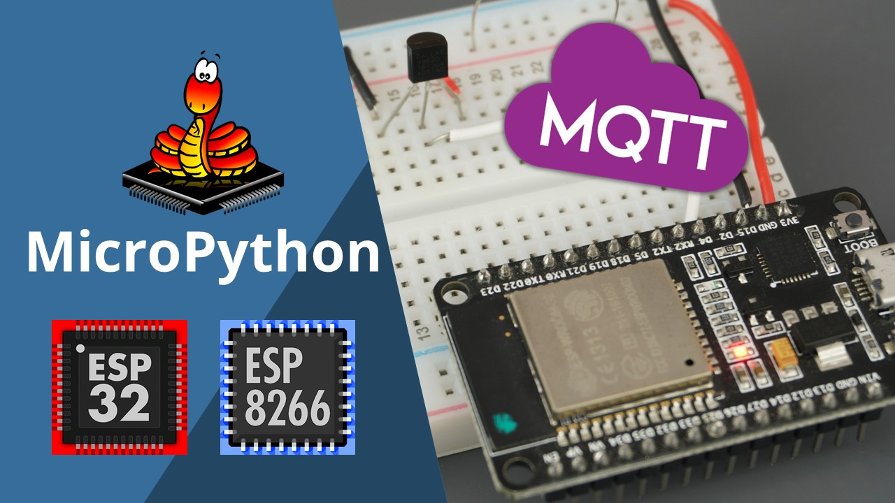 MicroPython MQTT Publish DS18B10 Temperature Readings ESP32 ESP8266
