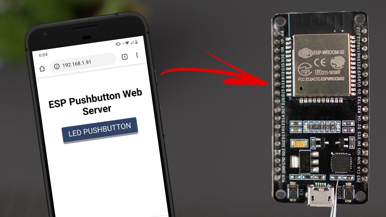 ESP32 ESP8266 Web Server Control Outputs with Momentary Switch Arduino IDE