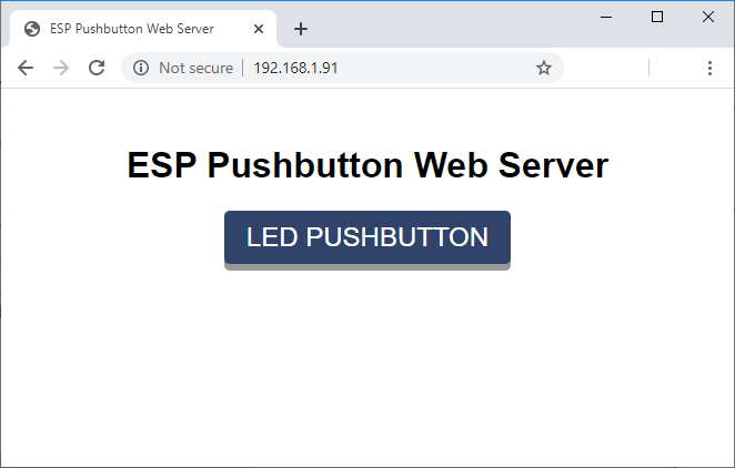 Momentary Switch Web Server ESP32 and ESP8266 Arduino IDE Demonstration
