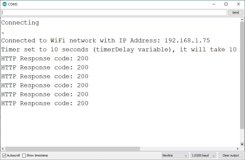 ESP32 ESP8266 NodeMCU HTTP POST Arduino IDE Serial Monitor Response