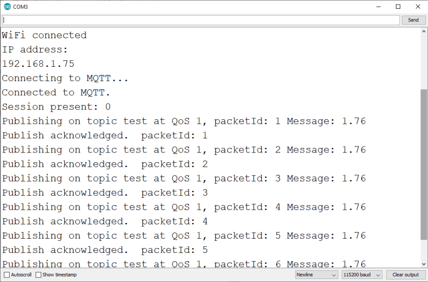 ESP32 ESP8266 Publish MQTT Message to Cloud Mosquitto MQTT Broker