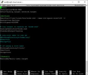Digital Ocean Installing Node-RED autostart on boot