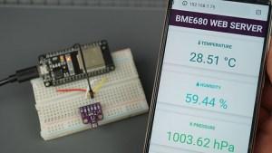 ESP32 BME680 Gas sensor Web Server Demonstration