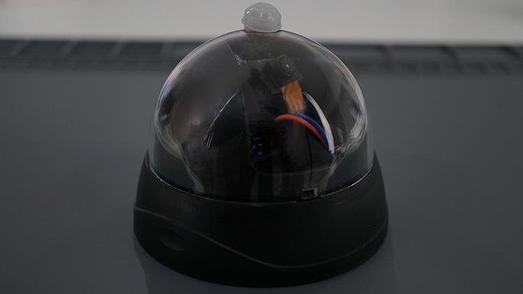 ESP32-CAM shield PCB Demonstration Fake dummy surveillance camera