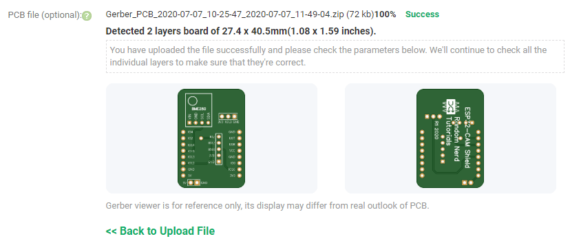 PCBWay Upload Gerbers Files and PCB Online preview