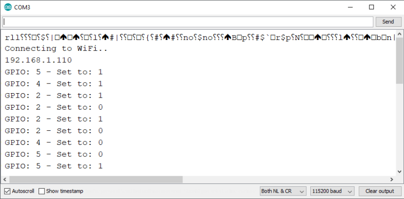 ESP8266 NodeMCU Async Web Server Arduino IDE Serial Monitor