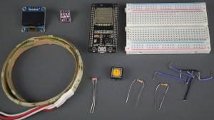 ESP32 Breadboard Weather Station Interface Shield Components Parts Required