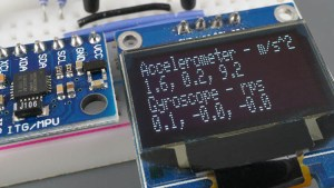 MPU6050 Module Accelerometer Gyroscope Temperature Sensor OLED Demonstration ESP32 ESP8266