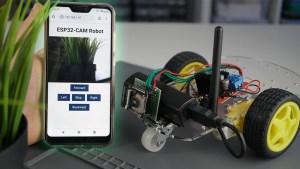ESP32-CAM Remote Controlled Car Robot Web Server Arduino IDE
