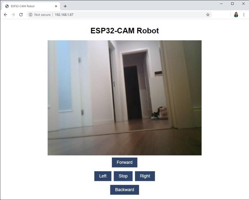 ESP32-CAM Web Server Remote Controlled Robot 2 Demonstration