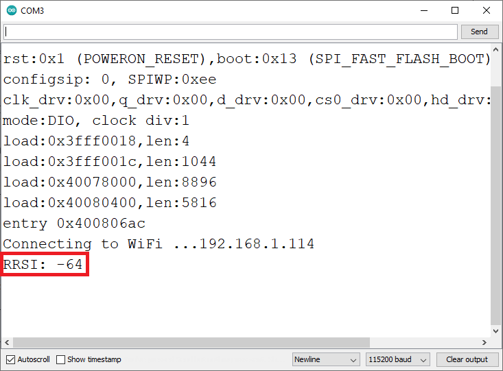 Get ESP32 Wi-Fi Connection Strength