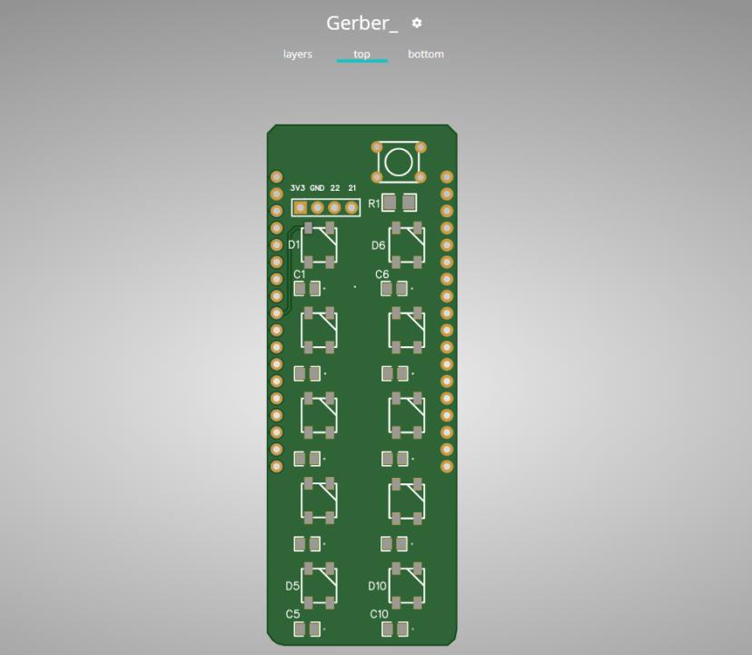 ESP32 Neopixel PCB Shield PCBWay Gerber Viewer