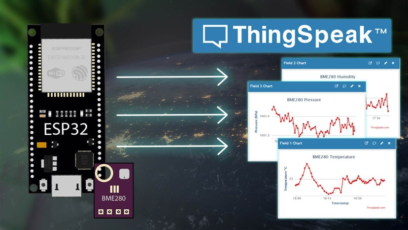 ESP32 Publish Sensor Readings to ThingSpeak easiest way Arduino