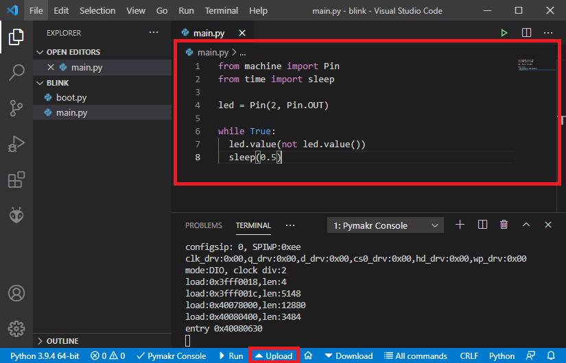 VS Code Visual Studio editor edit main file