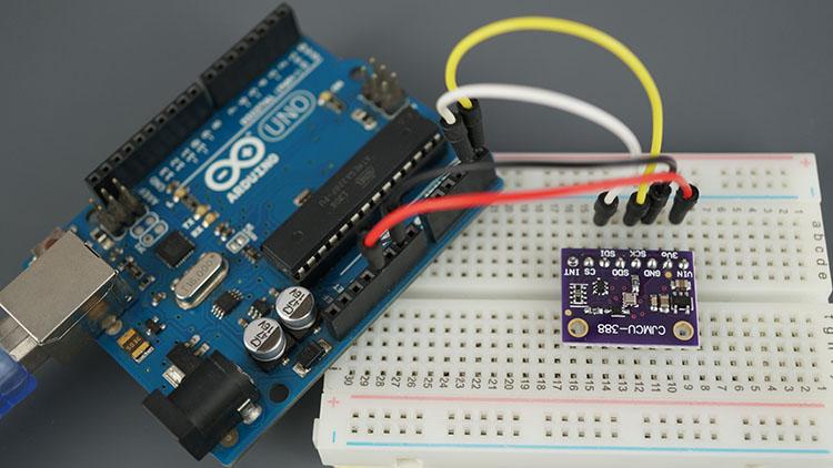 Arduino UNO Board BMP388 Sensor Module Altitude Pressure Temperature Parts Demonstration