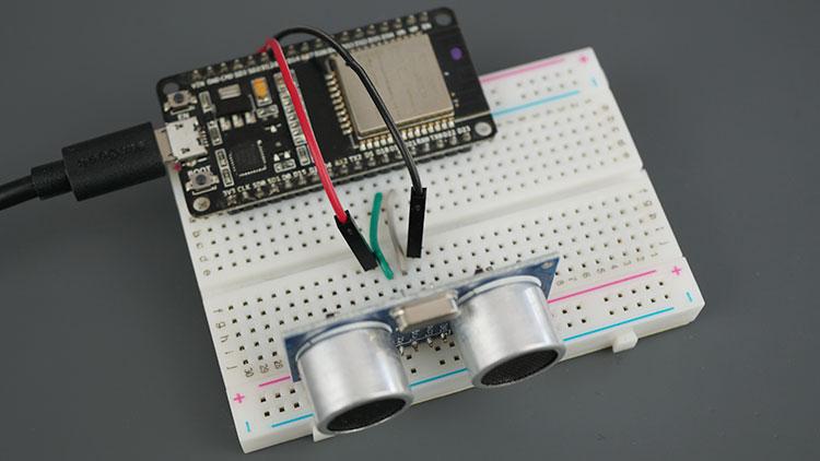 ESP32 Board HC-SR04 Ultrasonic Sensor Module Arduino Parts required