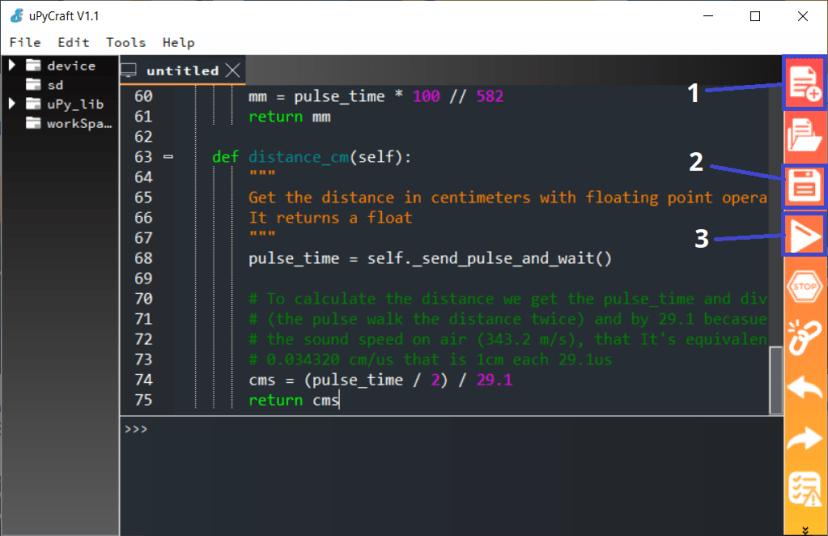 Install HC-SR04 Library MicroPython Upycraft IDE