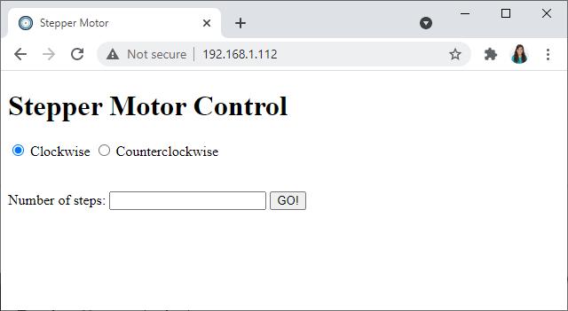 ESP32 ESP8266 Stepper Motor Control Web Server HTML Form