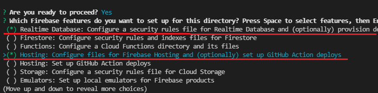 Login Firebase Account allow Firebase CLI configure directory