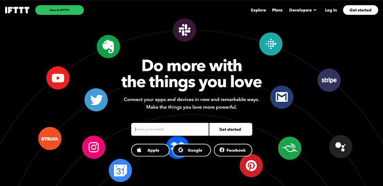 IFTTT Get Started Web Page