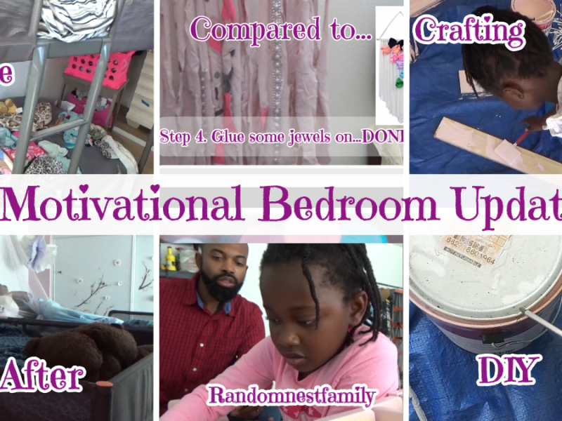 "Randomnestfamily.org Vlog feature photo for ""Motivational Bedroom Update"""