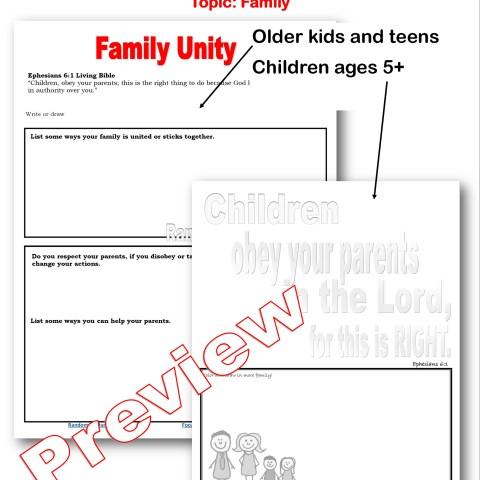 Family unity preview @randomnestfamily.org