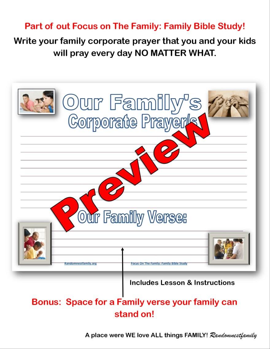 Corporate prayer preview @randomnestfamily.org