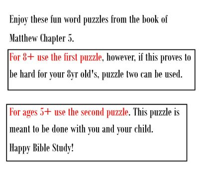 Word search information