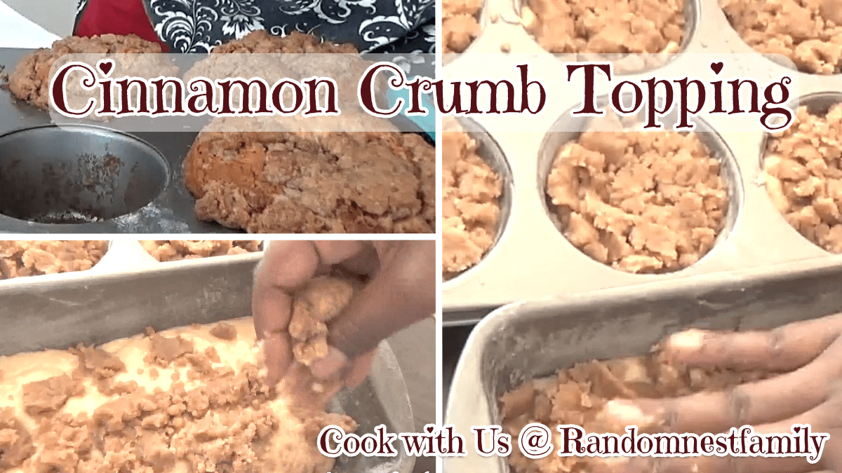 Cinnamon Crumb Topping feature @randomnestfamily