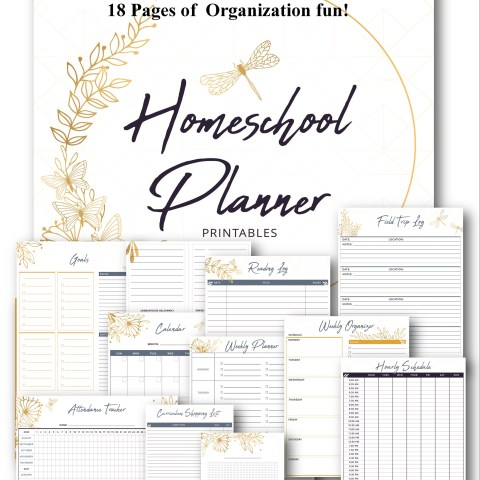 Full homeschool planner @randomnestfamily.org