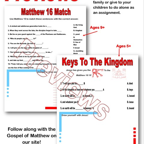 Gospel of Matthew assignment @randomnestfamily.org