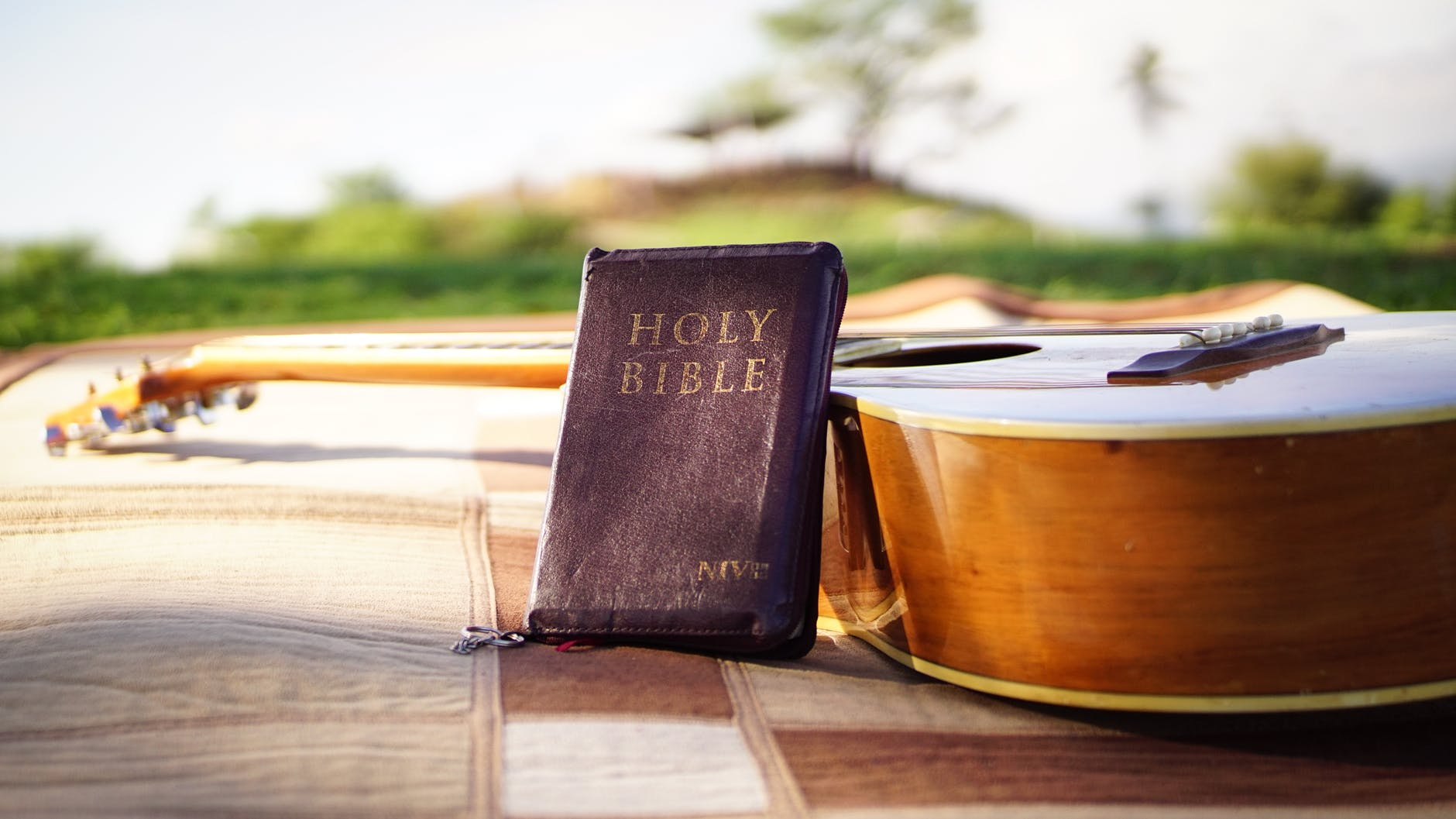 bible near a guitar @randomnestfamily.org