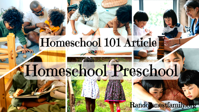 Homeschool Preschools and their families @randomnestfamily.org