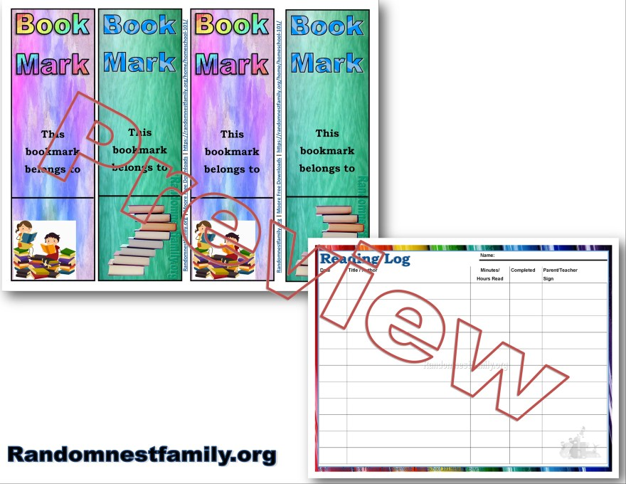 Reading award pack @randomnestfamily.org