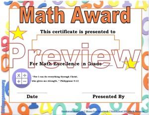 Math award @randomnestfamily.org