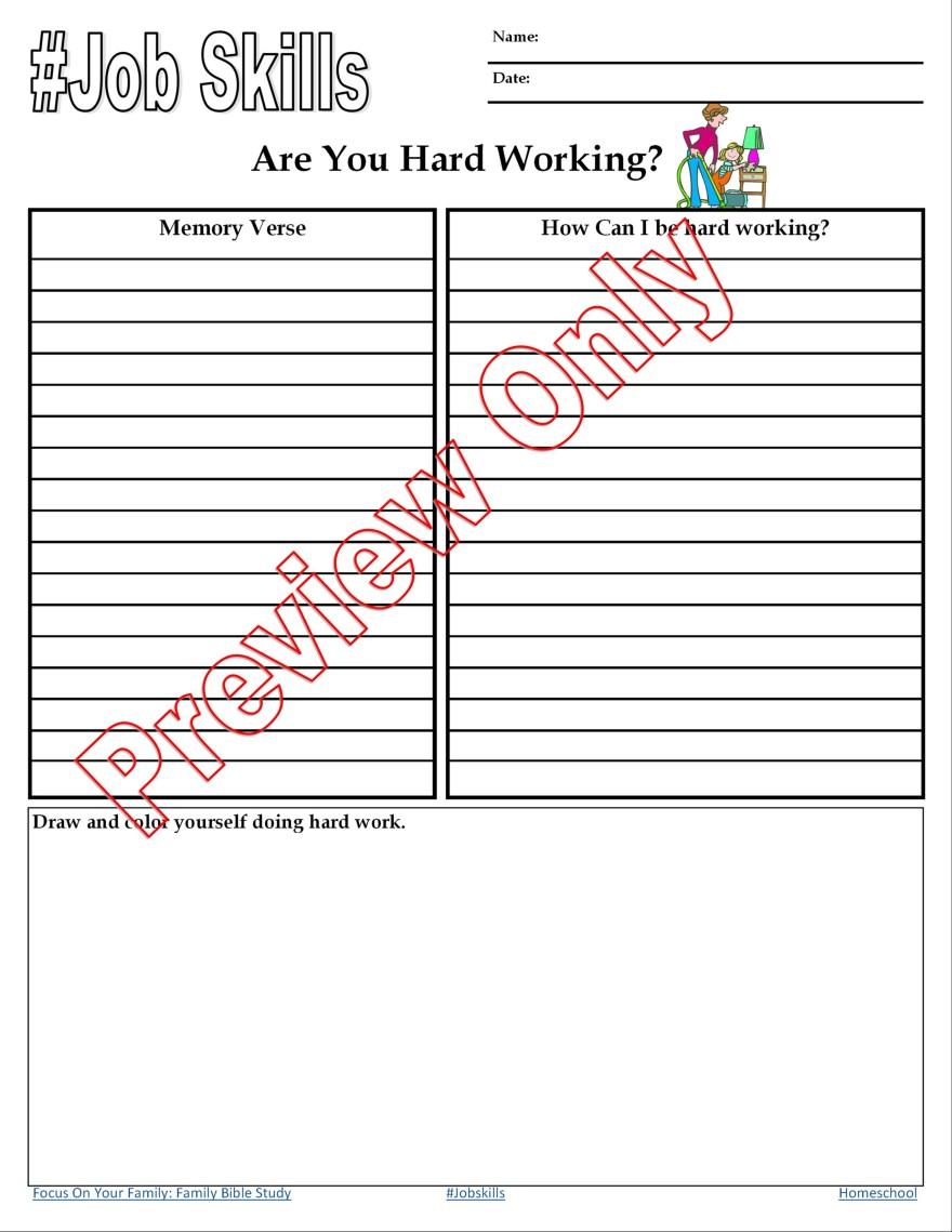 Job skills for kids: are you hard working? Randomnestfamily.org