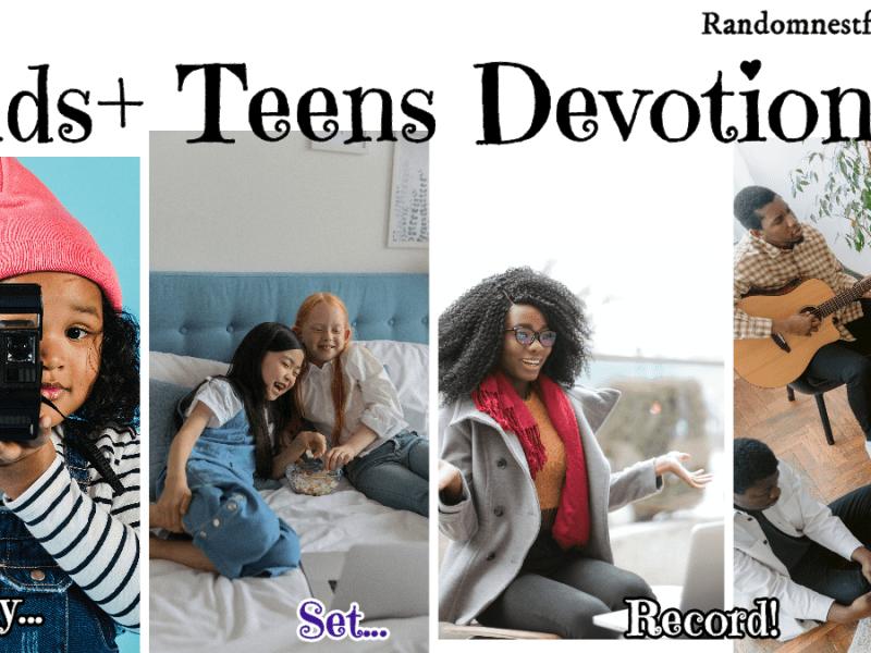 Kids and teens recording Bible devotionals @randomnestfamily.org